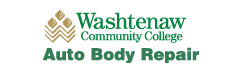 Green and gold WCC logo for Auto Body Repair
