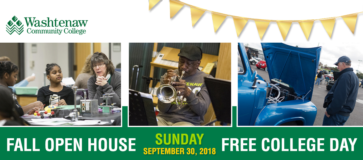 Free College Day and Open House | Washtenaw Community College